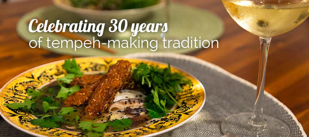 We're celebrating 30 years of tempeh-making tradition.
